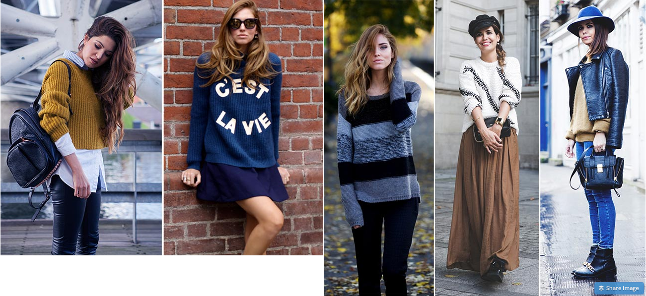 Oversized sweaters in spring 2015