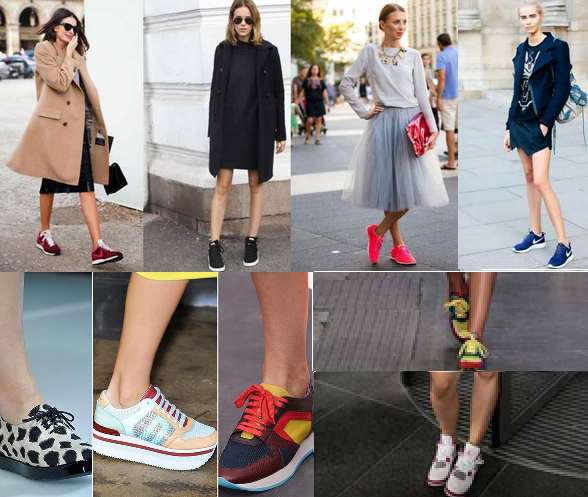 STYLING WITH SNEAKERS IN SS 2015