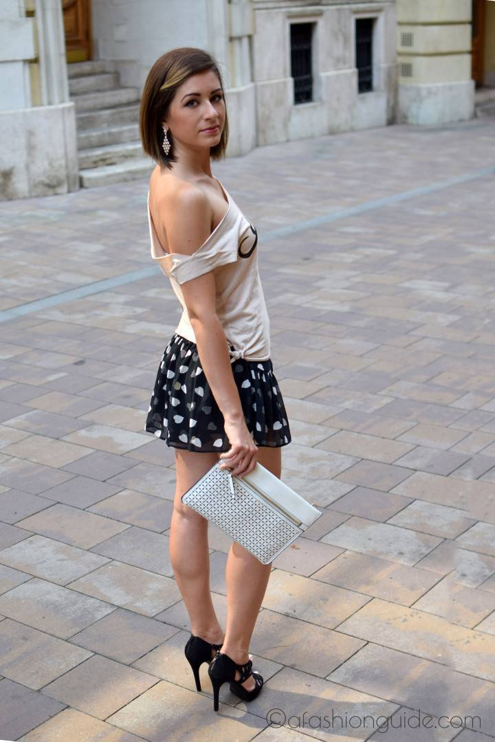 DIY summer outfit makes you chic and unique. easy to make a chic top at home